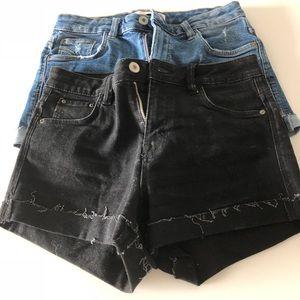 Zara Jean Shorts Bundle  NWOT - Size 2